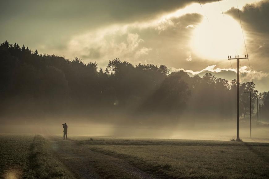 Der einsame Fotograf - fotografiert von Reiner Wagenbreth